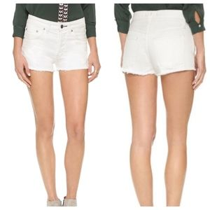 FREE PEOPLE UPTOWN DENIM SHORTS, 29